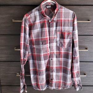 Mens Vans Plaid Button Shirt